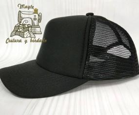 Gorra niño trucker negra