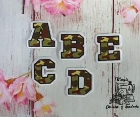 Alfabeto tela camuflaje