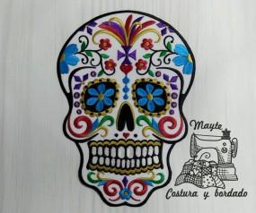 Parche calavera mexicana