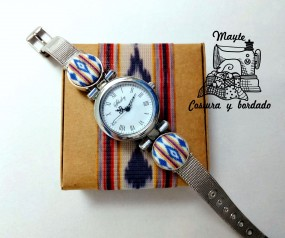 Reloj de pulsera de tela de...