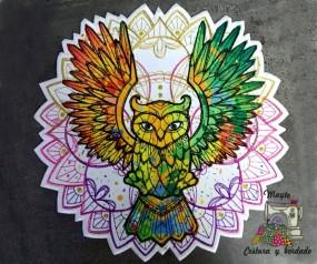 Parche Buho multicolor