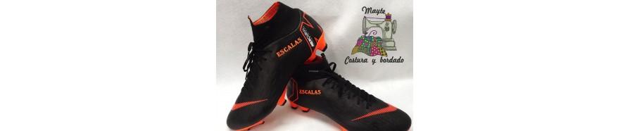 Bordado en botas de fútbol