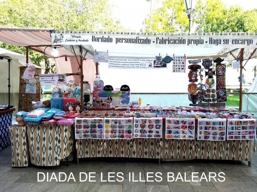 Ferias, eventos,  Mercados Ambulantes     bordado en vivo y en directo    Mayte Costura y Bordado